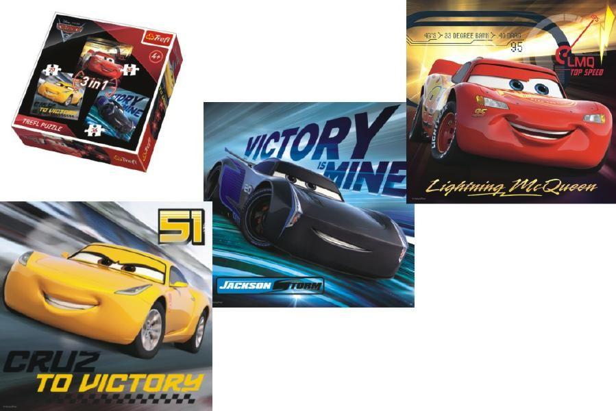 Cars 3 - 3v1 Puzzle (Auta 3) - od 4 let